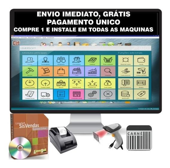 Gestão De Estoque, Vendas, Compras, Sistema Pdv, Loja, Carnê