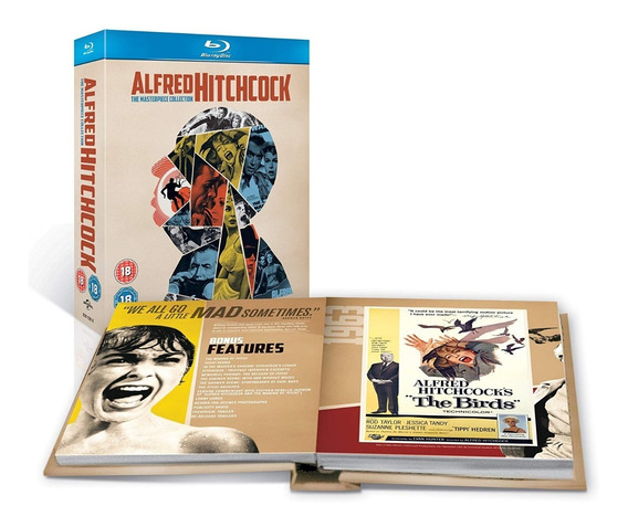 Bluray Gift Set Alfred Hitchcock The Masterpiece 14 Discos