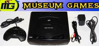 Sega Saturn Americana Chipeada Completa + 5 Juegos - Local