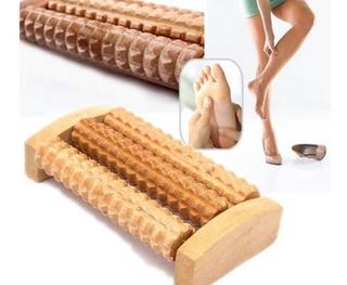Rolo Massageador Madeira Para Os Pés Massoterapeuta Relax