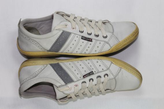 Tênis Sapatênis Ferracini Branco, 39 - Ótimo Estado - Usado