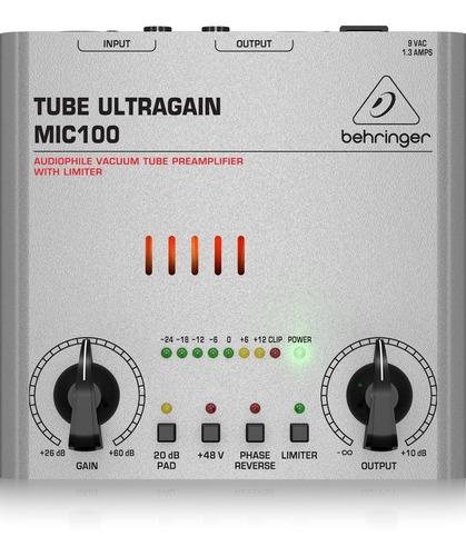 Behringer Mic100 Preamplificador De Bulbo Para Microfono