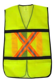 Chaleco De Seguridad Byp Con Bandas Reflejantes Verde