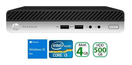 Min Pc Hp Prodesk 400 G4 I3 8100t 4gb Hd 500gb