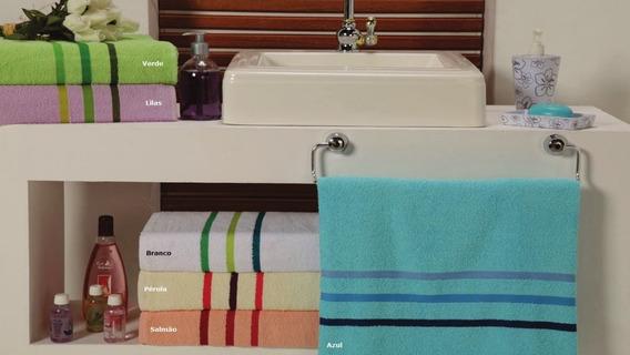Toalha De Banho Linha Aquarela 65x125-cm 6 Peças