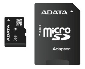 Cartão Memoria Micro Sd A-data 8gb + 1 Adpt. Class 4