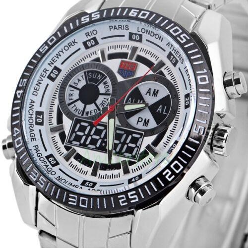 Relógio Masculino De Pulso Quartzo Aço Tvg - Branco