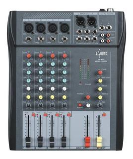 E-sound Fx-430 Consola 4 Canales Eq 3 Bandas Efectos