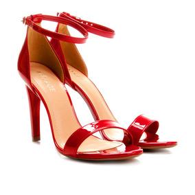 bbd9af6ac Sandalia Vermelha Salto Fino - Sandálias para Feminino no Mercado ...