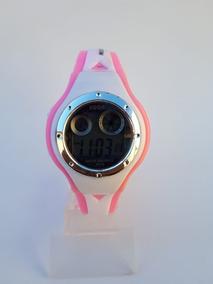 Relógio Digital Lsh Feminino Meninas Led Rosa Criança Jovem