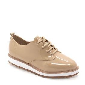 Sapato Oxford Molekinha Verniz Tratorado Bege
