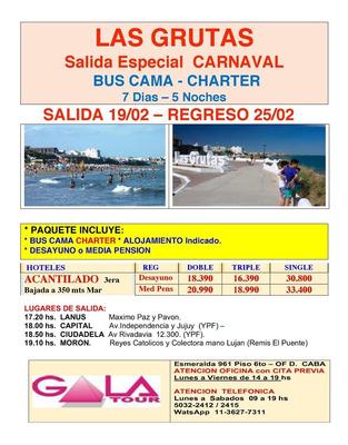 Las Grutas - Mar Del Plata, Gesell, S.clemente, Cataratas