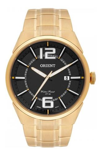 Imagem 1 de 1 de Relógio Orient Masculino Dourado Mgss1152 P2kx Original