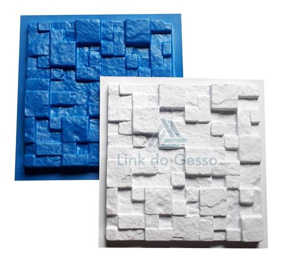 Forma Molde Gesso Placas 3d Plastico + Eva Travertino Lg0022