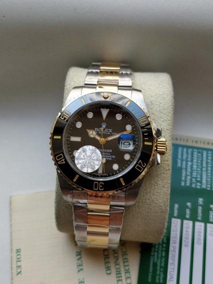 Relógio Masculino Submariner Ouro E Aço