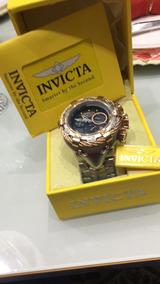 Relógio Invicta Ouro Rosê 18k, Original Na Caixa Zerado