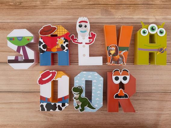 Letras 3d Toy Story 4 Candy Bar Decoracion Cumple X5 20 Cm