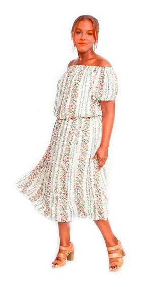 Vestido Hombros Descubiertos Floral Old Navy Talle 2x