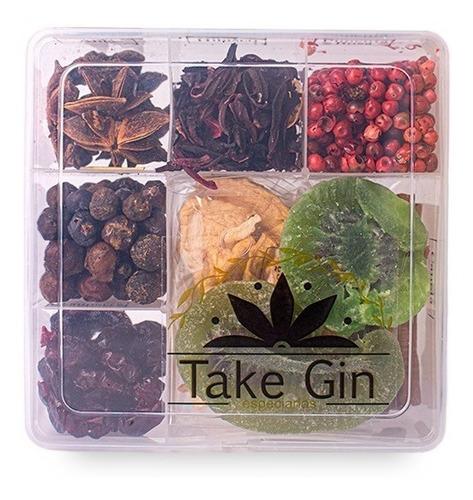 Imagem 1 de 5 de  Kit Gin Tônica  9 Especiarias Para Drinks - Bombay Take Gin