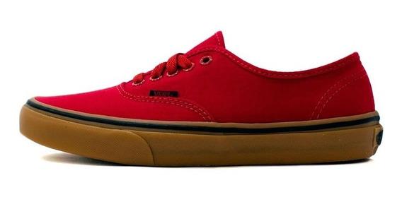 Tênis Vans Authentic Gum/racing Red/black 9517 Original
