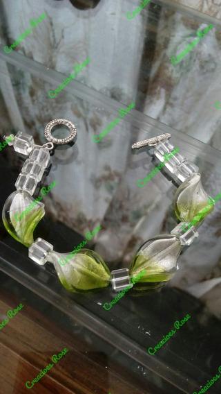 Pulsera Cristal De Murano Verde