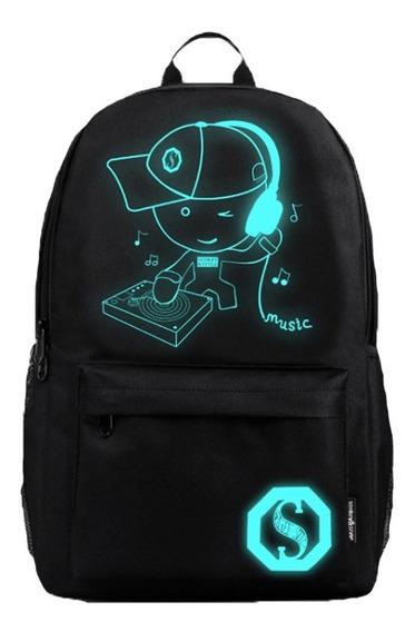 Mochila Escolar Fluorescente Infantil Notebook Brillante