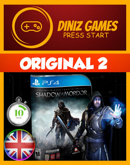 Shadow Of Mordor Ps4 Inglês