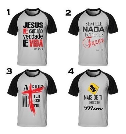 Kit Revenda C/ 10 Camisas Gospel C/ Frases Evangélicas