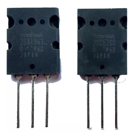 10 Pares Transistor 2sc5200 / 2sa1943 Toshiba Original