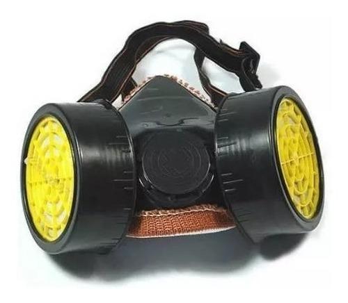 Mascara Antigases Doble Filtro Para Protección Industrial