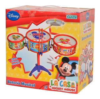 Juguete Mi Primer Bateria Mickey Club House Ditoys Chica