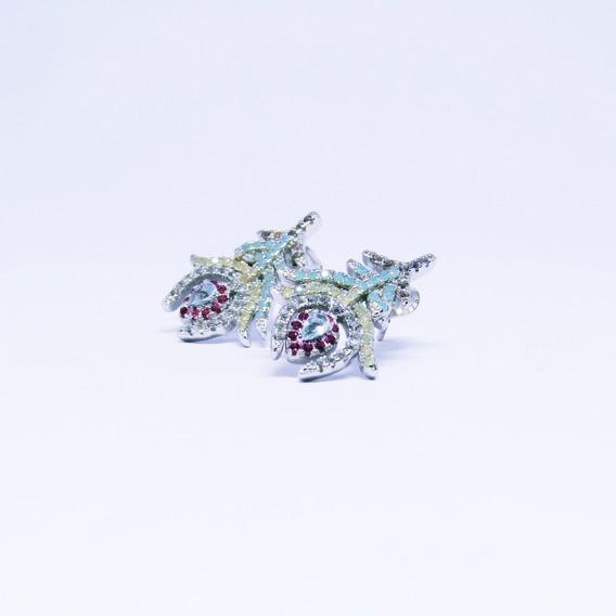 Brincos Femininos Tulipas Cristal Pequeno 12x S/ Juros