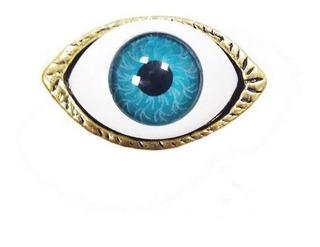 Anel Vintage Étnico Tribal Místico Olho Grego Amuleto Sorte