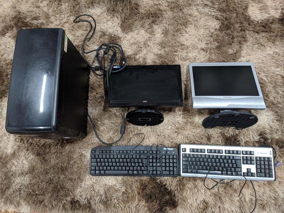 Computador Positivo Funcionando + Monitores E Teclados