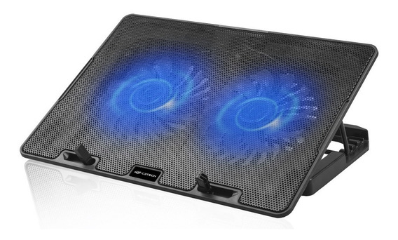 Base Notebook C/ Cooler C3tech Nbc-50bk 2 Cooler Led Azul