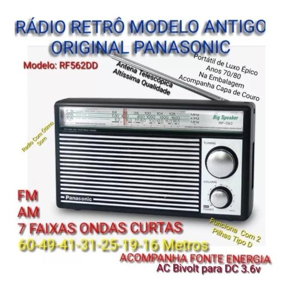 Rádio Retro Luxo Épico 70 Panasonic Fm Am Oc 7 Ondas Curtas