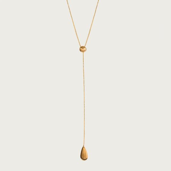 Gargantilha Y Em Ouro 18k - Linha Casual