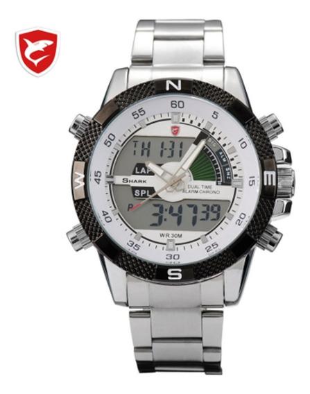 Relógio Shark Masculino Promoção Presente Mergulho Sh047