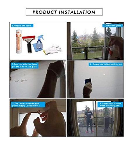 Smart pdlc privacidad pel/ícula A4/muestra