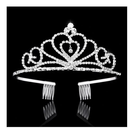 Coroa De Noiva Debutante Pente Cor Prata Modelo Princesa 30