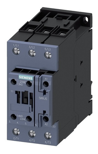 Imagen 1 de 1 de Contactor Sirius Innovations 60/ac1 50/ac3 Siemens