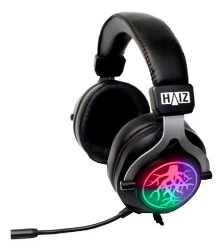 Fone de ouvido gamer Haiz HZ-K20 preto com luz LED