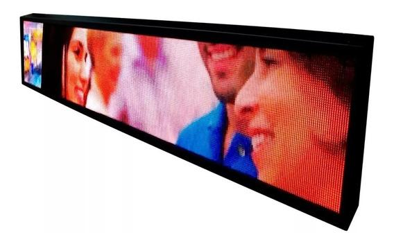 Painel De Led P5 Outdoor De 2m X 40cm Fullcolor Vídeos