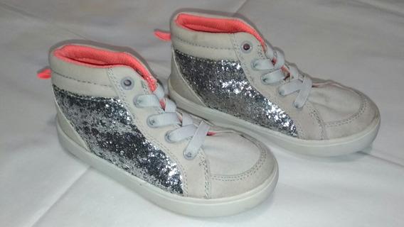 Zapatos Deportivos Tipo Botines Para Niñas.carters, Talla 27