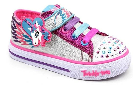 Tênis Infantil Skechers Twinkle Toes 10772n Rosa