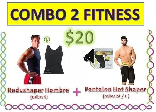 Combo Redushaper Hombre + Pantalon Hot Shaper Promocion Faja