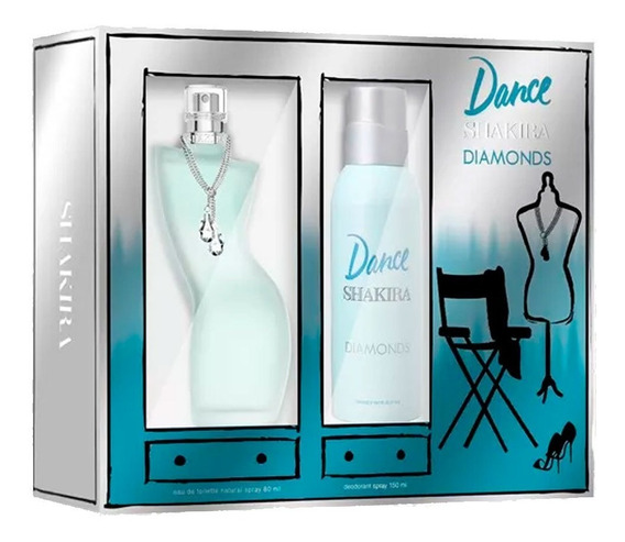 Kit Dance Diamonds Shakira Edt Feminino 80ml + Deo 150ml