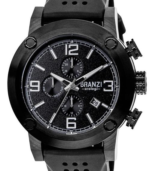 Reloj Hombre Branzi By Citizen 20997 Acero Pavonado Crono.