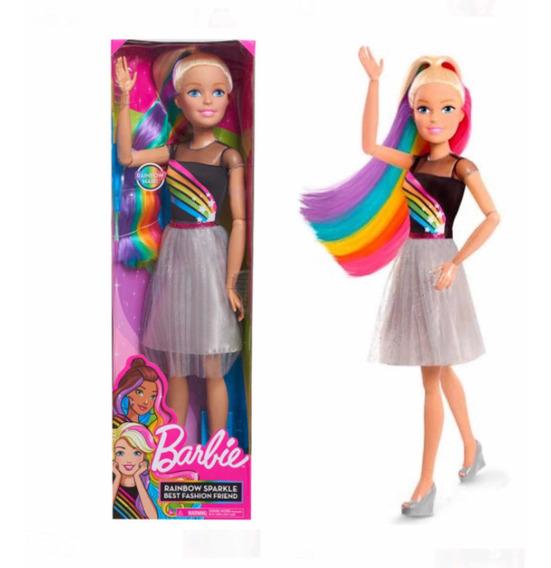 Barbie Mi Gran Amiga Peinados Arcoiris 71 Cms
