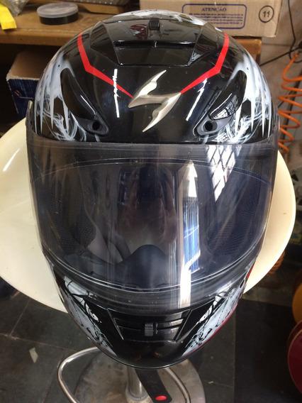 Capacete Scorpion E.x.o.750-fibra De Vidro Impecável.n°-62.